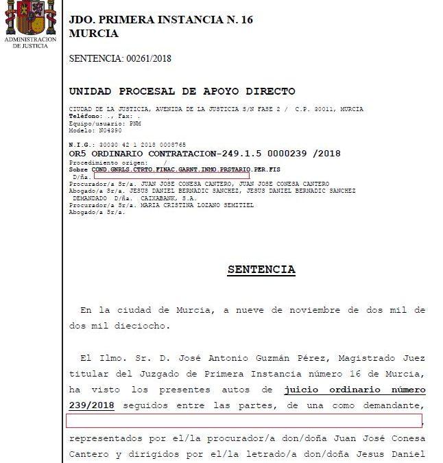 NUEVA VICTORIA: GANAMOS AL BANCO LOS GASTOS DE HIPOTECA Y COMISIÓN DE APERTURA