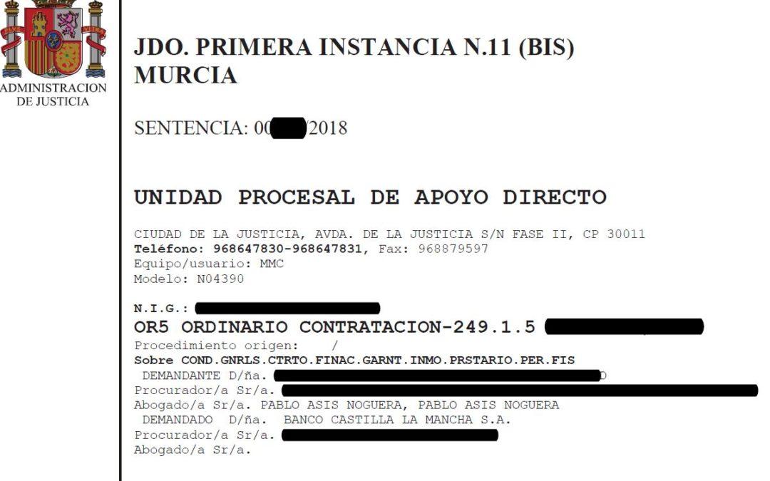 Banco Castilla La Mancha condenado por cláusula suelo y gastos